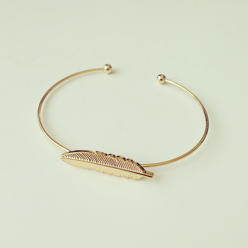 Small Feather Bangle