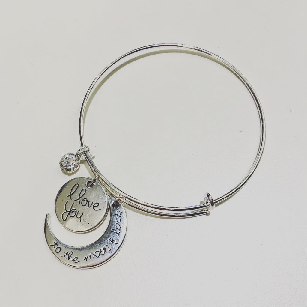 I Love You To The Moon & Back Charm Bracelet