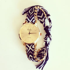 BF Threads and Chain B&W Watch