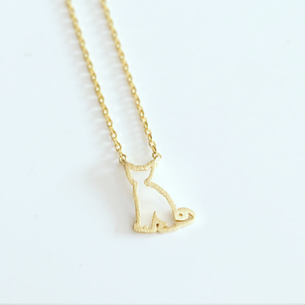Cat Outline Necklace