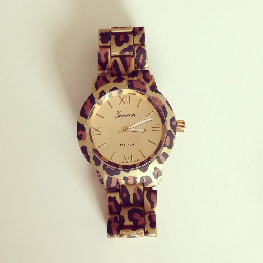 Leopard Platinum Watch
