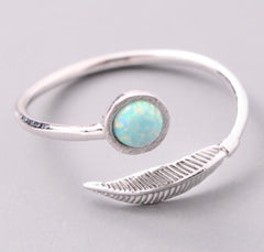 Feather Opal Ring
