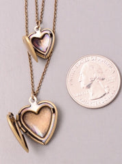 Layering Locket Heart Necklace