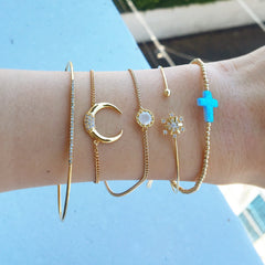 Crescent Moon Adjustable Bracelet
