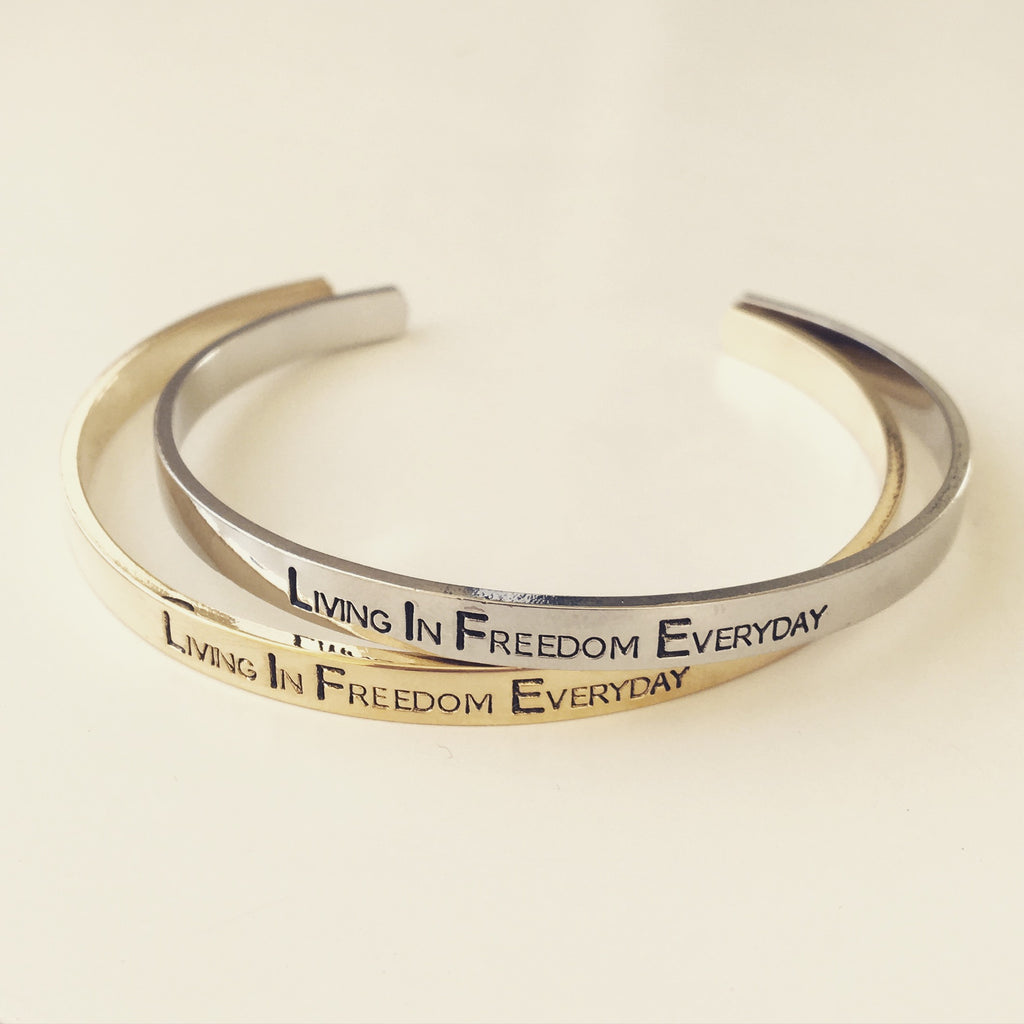 Living In Freedom Bangle