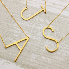 Adorable Large Initial Necklace