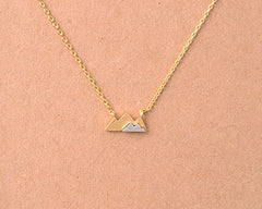 Tiny Stacked Mountain Necklace