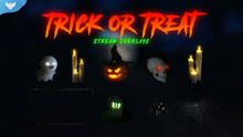 Load image into Gallery viewer, Trick or Treat Stream Overlays