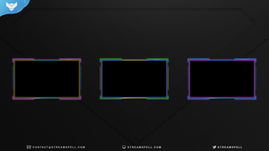 Pop Neon Animated Webcam Overlay