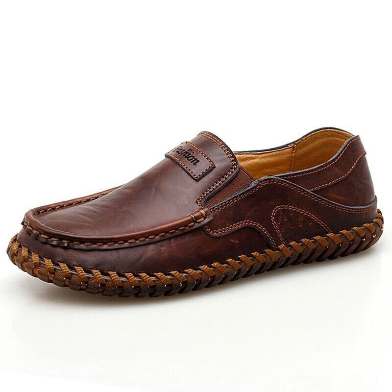 Leather Loafers - Men's Shoes