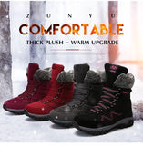 Women's Leather Snow Boots - Men's Shoes