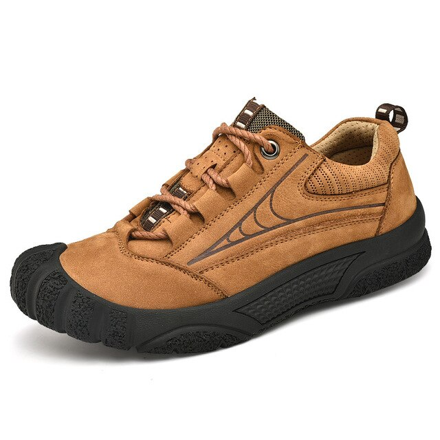 Leather Outdoor  Sneakers - Men's Shoes