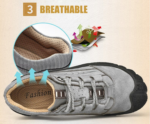 Image of Leather Outdoor  Sneakers - Men's Shoes
