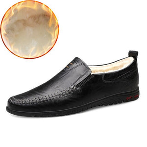 Comfortable Handmade Flats Moccasins - Men's Shoes