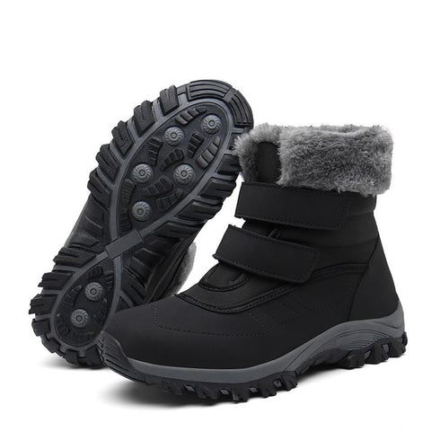 fur plush  snow boots - Men's Shoes