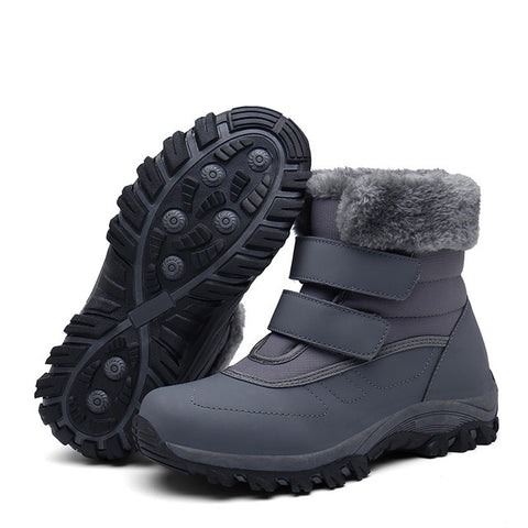 Image of fur plush  snow boots - Men's Shoes