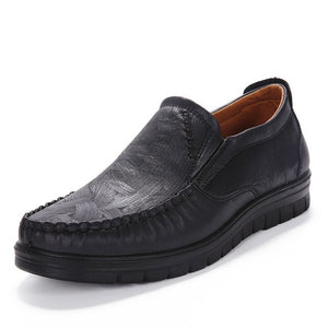 Leather Flat Shoes - Men's Shoes