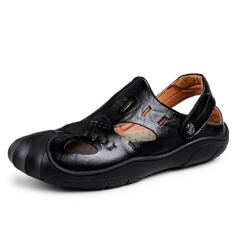 Image of Rome Leather Sandals - Men's Shoes