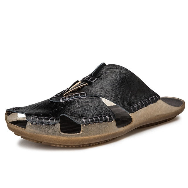 leather  Sandal - Men's Shoes