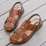 Leather Slippers - Men's Shoes