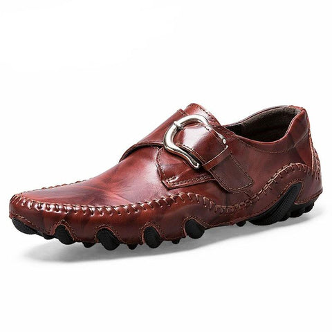 Leather Moccasins - Men's Shoes