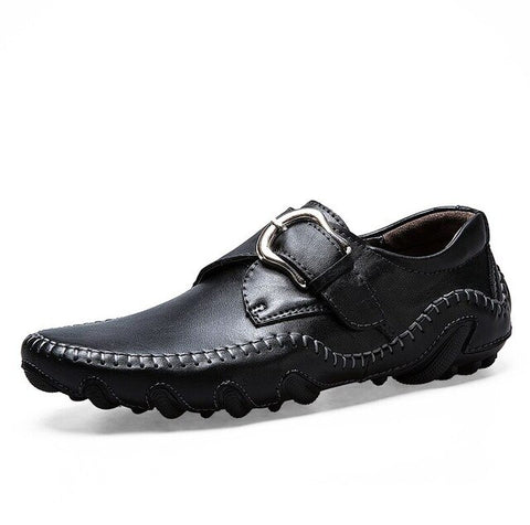 Image of Leather Moccasins - Men's Shoes