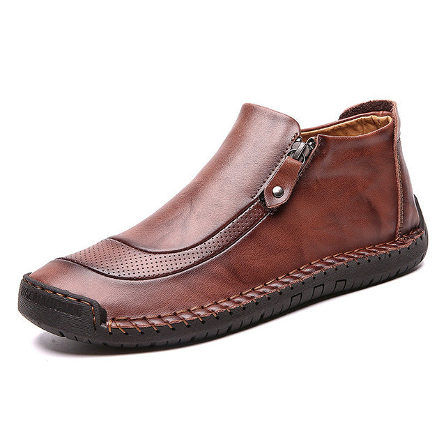 Leather  Ankle Boots - Men's Shoes