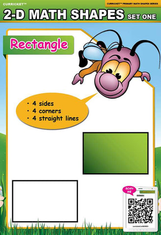 2-D Math Shapes Set One - from Curricket educational - a Interactive Classroom Poster