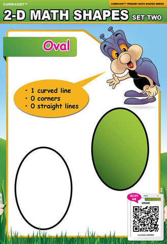2-D Math Shapes Set Two - from Curricket educational - a Interactive Classroom Poster
