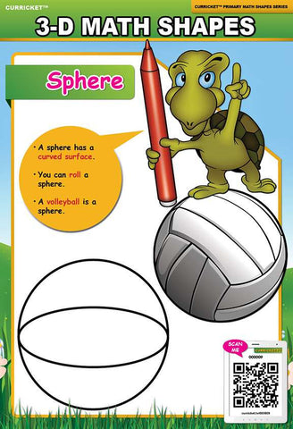 3-D Math Shapes - from Curricket educational - a Interactive Classroom Poster