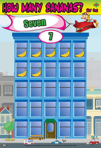 How Many Bananas? Set One - from Curricket educational - a Classroom Learning Center