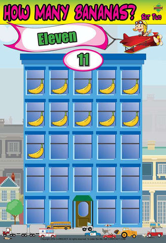 How Many Bananas? Set Two - from Curricket educational - a Classroom Learning Center