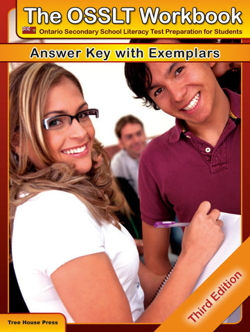 OSSLT Workbook Answer Key with Exemplars - from Curricket educational - a Teacher Guide