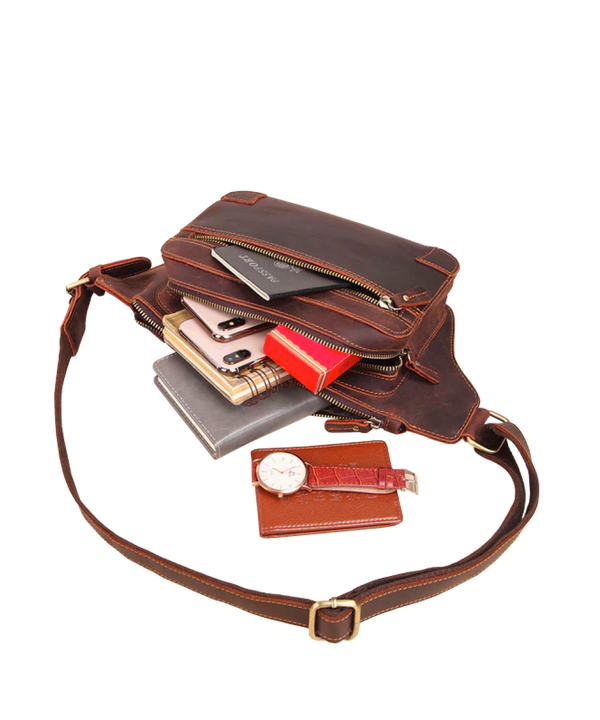 Multi Pocket Crossbody Waist Bag
