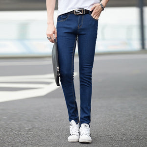 2018 Regular Mid Worsted None Military Free Shipping Hot New Micro-bomb Autumn Cowboy Casual Pants Men Cultivating Men's Jeans