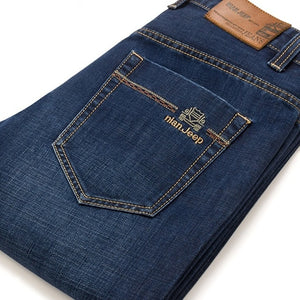 Big Size Plus 40 42 2019 Nian JEEP brand Men Jeans Classic Men's Clothing Casual Denim trousers Men Regular Blue jean pants Male