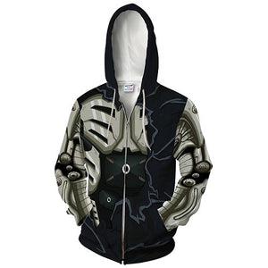 2018 muscle zip hoodie One Punch Man power Hooded coat zipper outerwear Men's Hoody Sweatshirt Plus Size 2018 New Pullover Tops