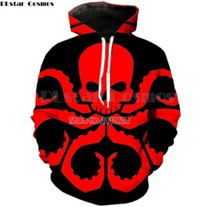 PLstar Cosmos Marvel HYDRA Men's Hoodies Sweatshirts 3D Printed Funny Hip HOP Hoodies Novelty Streetwear Hooded Autumn Jackets
