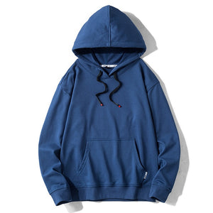 Solid Color Hoodies Streetwear Sweatshirt Hooded Man Cotton Pullover Men's Hoodies Sweatshirts for Men High Quality Men Fashions