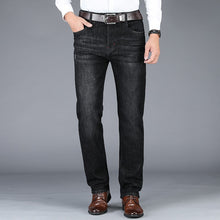 Load image into Gallery viewer, 2020 New men's business casual straight jeans stretch loose men's jeans