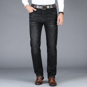 2020 New men's business casual straight jeans stretch loose men's jeans