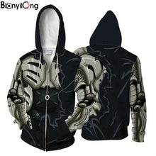 Load image into Gallery viewer, 2018 muscle zip hoodie One Punch Man power Hooded coat zipper outerwear Men's Hoody Sweatshirt Plus Size 2018 New Pullover Tops