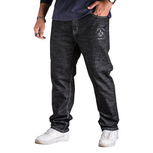 2018 New Casual Men's Jeans Men Pant Personality Big Pockets Fashion Jeans Man Straight Denim Large Plus Size 31-40 42 44 46 48