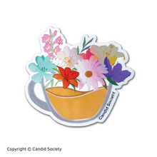 Load image into Gallery viewer, Flower Coffee Mug - Holographic Sticker