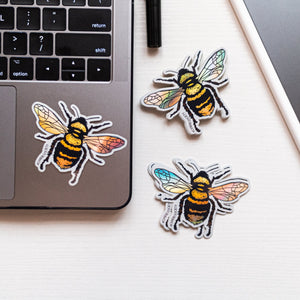 Abeja (Bee) - Holographic Sticker