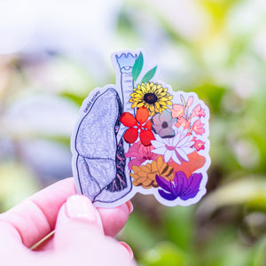 Lungs - Holographic Sticker