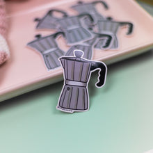 Load image into Gallery viewer, Gray Coffee Pot - Premium Sticker