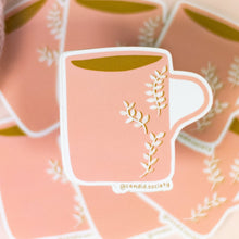 Load image into Gallery viewer, Pink Coffee Cup ☕ - Premium Sticker