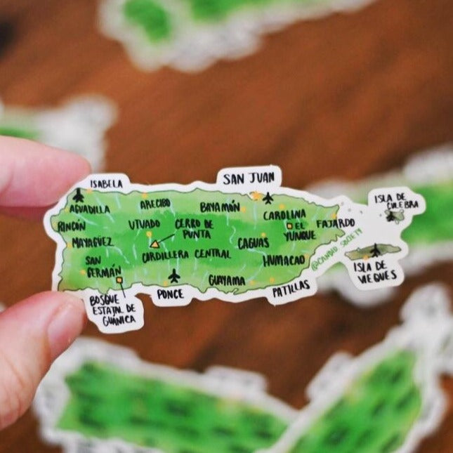 Puerto Rico Map - Premium Sticker