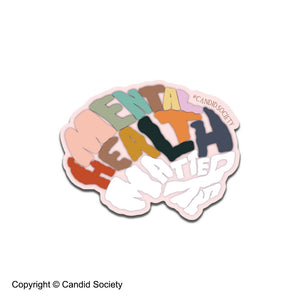 Mental Health Matters Brain - Premium Sticker